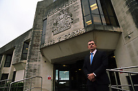 COPY BY TOM BEDFORD<br />Pictured: Peter Collins, Detective Inspector, Major Crime, for South Wales Police, outside Swansea Crown Court. Monday 09 October 2017<br />Re: Burglar Keiran Wathan has been jailed for 18 years by Swansea, Crown Court, for killing a woman and injuring her husband after they tried to stop him fleeing their home.<br />24 year old Wathan, of Ystalyfera, south Wales, used a kinife to attack Sheila and Wayne Morgan after breaking into their home in the Morriston area of Swansea, Wales.<br />Mrs Morgan, 71, later died from sepsis after her wounds became infected.<br />Wathan admitted manslaughter, wounding with intent and possessing a bladed article, at Swansea Crown Court.