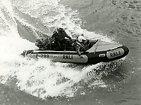 BNPS.co.uk (01202 558833)<br /> Pic: RNLI<br /> <br /> Bridlington's inshore lifeboat 'The Lord Feoffees'. In service 1984-1992<br /> <br /> Splash in the Attic...<br /> <br /> A 'lost' cache of 13,000 photographs charting the history of the RNLI has been found in the attic of the charity's headquarters.<br /> <br /> Many of the black and white photos date back to the 1920s and '30s long before the terms 'health and safety' and 'risk assessment' were thought of.<br /> <br /> One image depicts a brave lifeboatman dressed in a suit and cloth cap just as the lifeboat he is on launches down a ramp into a choppy sea.<br /> <br /> Another shows the crew of another open lifeboat getting swamped by waves with only their souwesters and lifejackets to protect them.<br /> <br /> The photos have been unearthed in storage space at the RNLI HQ in Poole, Dorset, and they are now being digitised.