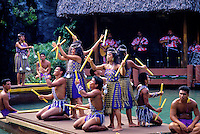 Polynesian dance and practices at the polynesian cultural center, north shore of oahu.
