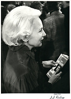Jeanne Sauve<br /> , date inconnue, circa 1980<br /> <br /> PHOTO : Agence Quebec Presse