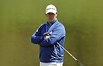 JEJU, SOUTH KOREA - APRIL 25:  Marcus Fraser of Australia waits to play on the 2nd green during the Round Three of the Ballantine's Championship at Pinx Golf Club on April 25, 2010 in Jeju, South Korea. Photo by Victor Fraile / The Power of Sport Images