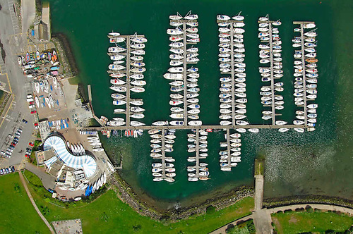 Aerial image of Howth Yacht Club and marina