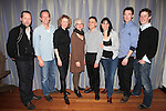 Tim Hopper, Stephen Bogardus, Lisa Banes, Judith Rbin, David Greenspan, Leigh Silverman, Brian Hutchison & Michael Izquierdo.attending the 'Go Back To Where You Are' First Day of Rehearsals at Playwrights Horizons' in New York City.