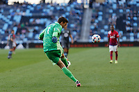 SAINT PAUL, MN - MAY 15: Tyler Miller #1 of Minnesota United FC kicks the ball during a game between FC Dallas and Minnesota United FC at Allianz Field on May 15, 2021 in Saint Paul, Minnesota.