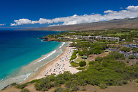 An aerial view of Hapuna Beach, Kona, Big Island of Hawai'i.