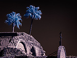 Crow and Cross, Mission San Juan Capistrano, California (Infrared) ©2017 James D Peterson.