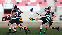 Tuesday 10th March 2020 | Campbell College vs RBAI <br /> <br /> Carson McCullough during the 2020 Medallion Shield Final between Campbell College and RBAI at Kingspan Stadium, Ravenhill Park, Belfast, Northern Ireland. Photo by John Dickson / DICKSONDIGITAL