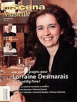 Publication  en couverture de la SCENA MUSICALE<br /> <br /> <br /> Photo : Pierre Roussel