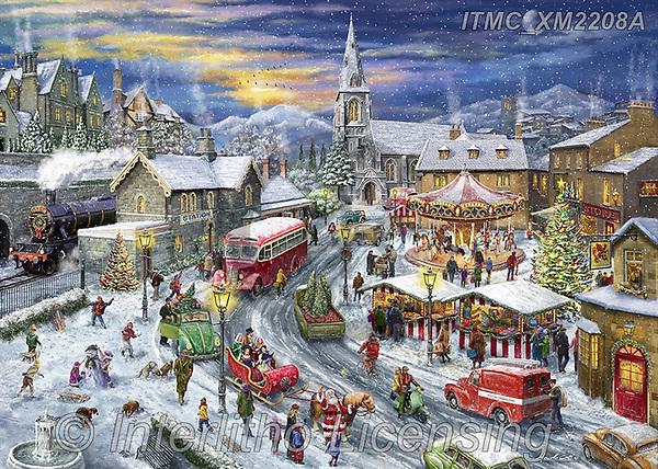 Marcello, CHRISTMAS LANDSCAPES, WEIHNACHTEN WINTERLANDSCHAFTEN, NAVIDAD PAISAJES DE INVIERNO, paintings+++++,ITMCXM2208A,#xl# ,puzzle,puzzles