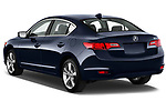 Rear three quarter view of a 2013 Acura ILX Tech
