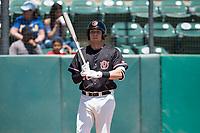 Visalia Rawhide third baseman Drew Ellis (10) at bat during a California League game against the Stockton Ports at Visalia Recreation Ballpark on May 9, 2018 in Visalia, California. Stockton defeated Visalia 4-2. (Zachary Lucy/Four Seam Images)