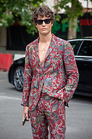 Milan,Italy - 20 th june 2021 - Kean Etro fashion show for Milano fashion week Men's collection 18-22 june 2021 - young boys posing before the show