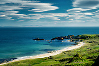 White Park Bay. View from White Park Bay Overlook, Northern Ireland