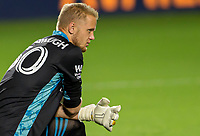 CARSON, CA - SEPTEMBER 19: William Yarbrough #50 GK of the Colorado Rapids during a game between Colorado Rapids and Los Angeles Galaxy at Dignity Heath Sports Park on September 19, 2020 in Carson, California.