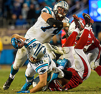 Carolina Panthers vs. the Arizona Cardinals in the 2016 NFC Championship game at Bank of America Stadium in Charlotte,NC on, January 24, 2016.  <br /> <br /> Charlotte Photographer: PatrickSchneiderPhoto.com