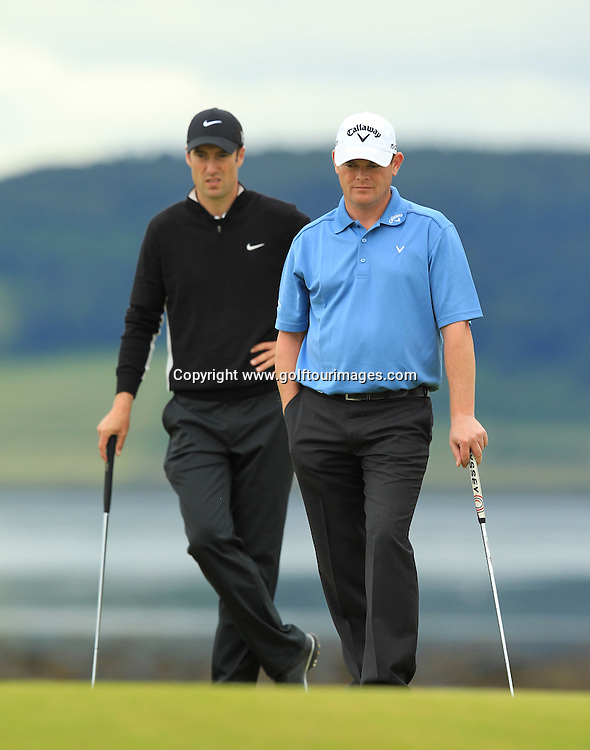 David Drysdale during the 2012 Aberdeen Asset Management Scottish Open being played over the links at Castle Stuart, Inverness, Scotland from 12th to 14th July 2012:  Stuart Adams www.golftourimages.com:12th July 2012