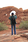 Photo workshop at Turret Arch, Arches National Park, Moab, UT.  <br /> Outside Imagery offers Arches National Park photo tours. Year-round Utah photo tours.