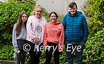 Pobalscoil Corcha Dhuibhne students Cora Ní Ghriamín, Eimerar Bacaeir, Serena Ní Ghrifín and Mickie Ó Brosnachán after sitting the first paper of the Leaving Cert.