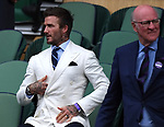 London Wimbledon Championships Day 11 09/07/2021<br /> David Beckham  and the Chairman of the All England Club in the Royal Box<br /> Roger Parker International Sports Fotos Ltd