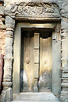 Angkorian temple Preah Ko at Roluos (late 9th century) 880.<br /> Blind door.<br /> Preah Ko temple was built in the reign of Indravarma I. It was the first monument built at the site of Hariharalaya, the ancient capital city of the Khmers. Preah Ko temple was dedicated to the worship of Shiva.