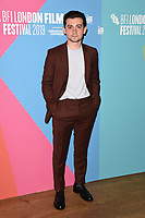 """LONDON, UK. October 08, 2019: Craig Roberts arriving for the """"Eternal Beauty"""" screening as part of the London Film Festival 2019 at the NFT South Bank, London.<br /> Picture: Steve Vas/Featureflash"""