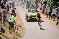 Antwan Tolhoek (NED/LottoNL-Jumbo) on pavé sector #14<br /> <br /> Stage 9: Arras Citadelle > Roubaix (154km)<br /> <br /> 105th Tour de France 2018<br /> ©kramon