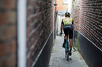 Lars Boom (NED/Lotto Jumbo) returning to the teambus through a small alley behind the finish line. <br /> <br /> Binckbank Tour 2017 (UCI World Tour)<br /> Stage 7: Essen (BE) > Geraardsbergen (BE) 191km