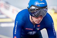 Edoardo Affini (ITA/Jumbo-Visma)<br /> <br /> Men Elite Individual Time Trial <br /> from Knokke-Heist to Bruges (43.3 km)<br /> <br /> UCI Road World Championships - Flanders Belgium 2021<br /> <br /> ©kramon