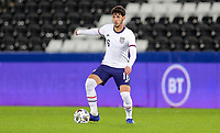 SWANSEA, WALES - NOVEMBER 12: Johnny #16 of the United States turns looking for an open man during a game between Wales and USMNT at Liberty Stadium on November 12, 2020 in Swansea, Wales.