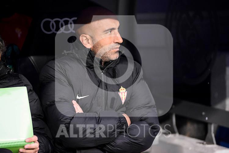 Sporting de Gijon's coach Abelardo Fernández during match of La Liga between Real Madrid and Sporting de Gijon at Santiago Bernabeu Stadium in Madrid, Spain. November 26, 2016. (ALTERPHOTOS/BorjaB.Hojas)