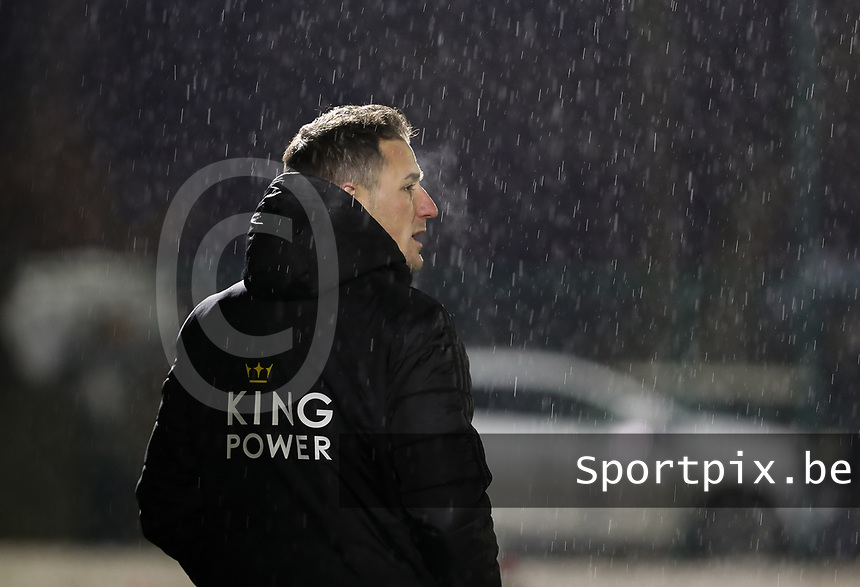 Head coach Jimmy Coenraets of OHL pictured during a female soccer game between Oud Heverlee Leuven and RSC Anderlecht on the 12 th matchday of the 2020 - 2021 season of Belgian Womens Super League , sunday 31 st of January 2021  in Heverlee , Belgium . PHOTO SPORTPIX.BE | SPP | SEVIL OKTEM