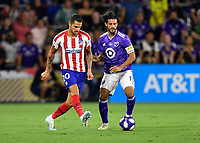 Orlando, FL - Wednesday July 31, 2019:  Vitolo #20, Carlos Vela #10 during the Major League Soccer (MLS) All-Star match between the MLS All-Stars and Atletico Madrid at Exploria Stadium.