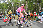 Hugh Carthy (GBR) and Ecuadorian Champion Jonathan Caicedo (ECU) EF Education-Nippo EF Education-Nippo on the final climb of Erlaitz during Stage 4 of the Itzulia Basque Country 2021, running 189.2km from Vitoria-Gasteiz to Hondarribia, Spain. 8th April 2021.  <br /> Picture: Luis Angel Gomez/Photogomezsport | Cyclefile<br /> <br /> All photos usage must carry mandatory copyright credit (© Cyclefile | Luis Angel Gomez/Photogomezsport)