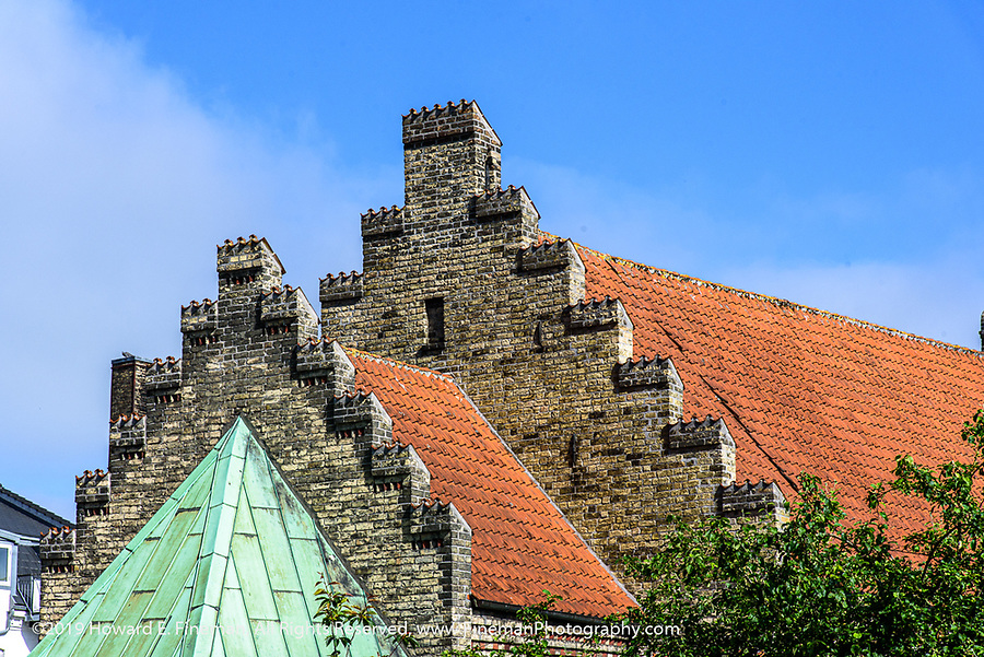 Similar Aalborg roofline details on church