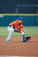 St. Lucie Mets third baseman Jhoan Urena (41) during the Florida State League All-Star Game on June 17, 2017 at Joker Marchant Stadium in Lakeland, Florida.  FSL North All-Stars defeated the FSL South All-Stars  5-2.  (Mike Janes/Four Seam Images)