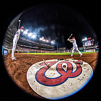 15 August 2017: Washington Nationals catcher Matt Wieters and third baseman Anthony Rendon prepare to start the bottom of an inning against the Los Angeles Angels at Nationals Park in Washington, DC. The Nationals defeated the Angels 3-1 in the first game of their 2-game series. Mandatory Credit: Ed Wolfstein Photo *** RAW (NEF) Image File Available ***