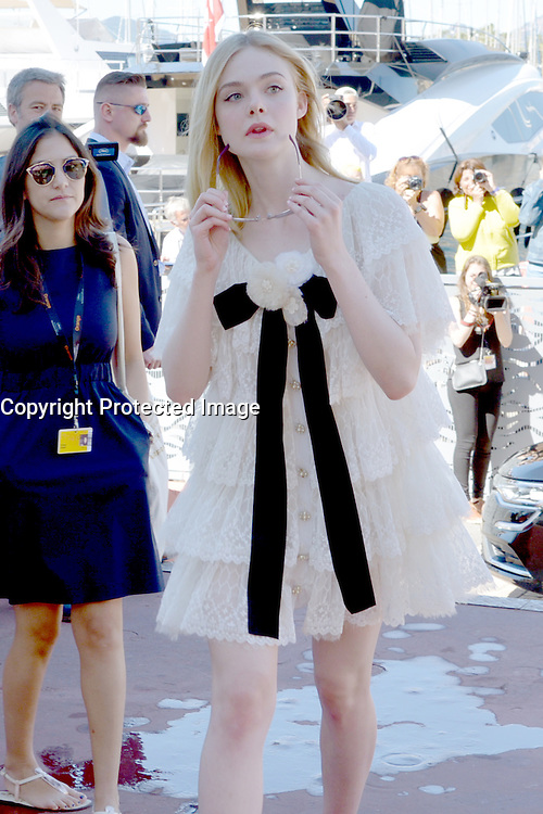 Actress Elle Fanning attends 'The Neon Demon' Photocall during the 69th annual Cannes Film Festival at the Palais des Festivals on May 20, 2016 in Cannes, France.