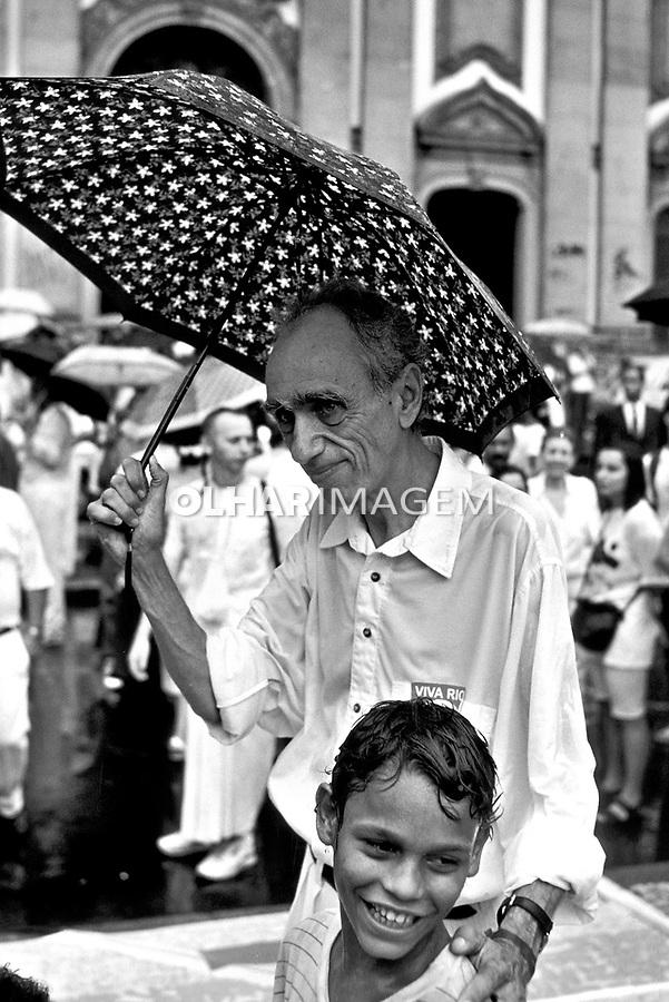 Pessoa. Personalidade. Herbert de Souza, Betinho, sociólogo. RJ. 1980. Foto de Ricardo Azoury.