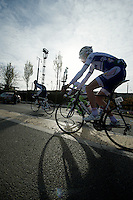 Paris-Roubaix 2012 ..Jean Lou Paiani in limbo between fictitious and real start