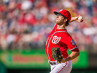 22 September 2013: Washington Nationals pitcher Erik Davis on the mound against the Miami Marlins at Nationals Park in Washington, DC. The Marlins defeated the Nationals 4-2 in the first game of their day/night double-header. Mandatory Credit: Ed Wolfstein Photo *** RAW (NEF) Image File Available ***