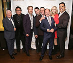 """Ted Snowdon, Joe Brancato, Ryan Spahn, Leland Wheeler, Lou Liberatore, Michael McKeever, Anna Holbrook and Matthew Montelongo during the Opening Night Celebration for """"Daniel's Husband"""" at the West Bank on October 28, 2018 in New York City."""