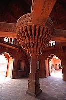 Indien,  Uttar Pradesh. Fatehpur Sikri, Diwan i Khas, Unesco-Weltkulturerbe