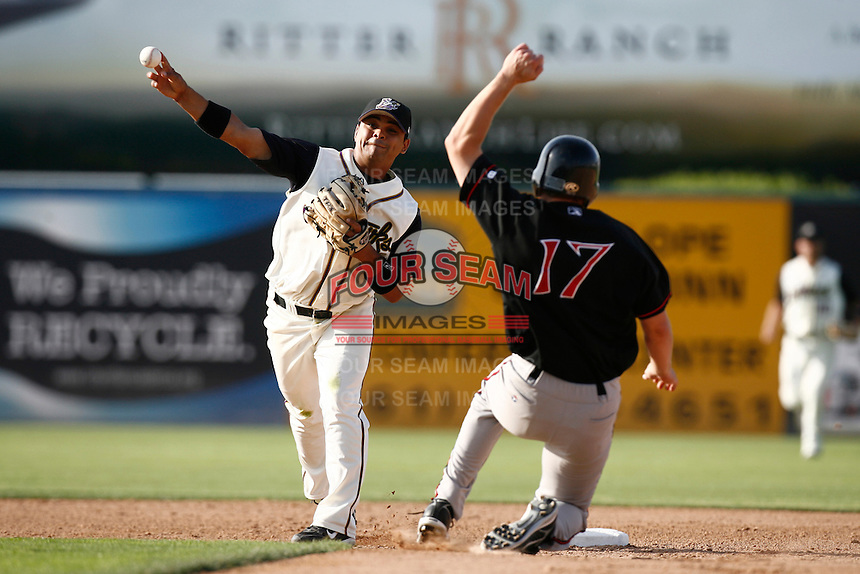 Tony Granadillo of the Lancaster JetHawks during a California League baseball game on May 19, 2007 at The Hanger in Lancaster, California. (Larry Goren/Four Seam Images)