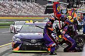 Monster Energy NASCAR Cup Series<br /> Bank of America 500<br /> Charlotte Motor Speedway, Concord, NC<br /> Sunday 8 October 2017<br /> Denny Hamlin, Joe Gibbs Racing, FedEx Office Toyota Camry<br /> World Copyright: Rusty Jarrett<br /> LAT Images