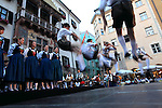 Traditional dance showing by local young people in Friedrich-Strasse(Friedrich Street). Innsburck. Austria