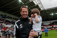 SWANSEA, WALES - MAY 17:  during the Premier League match between Swansea City and Manchester City at The Liberty Stadium on May 17, 2015 in Swansea, Wales.  (photo by Athena Pictures)