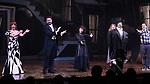 """Leslie Kritzer, Adam Dannheisser, Sophia Anne Caruso and Rob McClure  during the Broadway Opening Night Performance Curtain Call for """"Beetlejuice"""" at The Winter Garden on April 25, 2019 in New York City."""