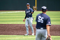 Liberty Flames second baseman Will Wagner (17) in action against the Duke Blue Devils in NCAA Regional play on Robert M. Lindsay Field at Lindsey Nelson Stadium on June 4, 2021, in Knoxville, Tennessee. (Danny Parker/Four Seam Images)