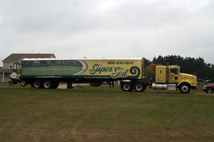 Most sod trucks that i have seen are not this nice, so I figured it deserved a photo.