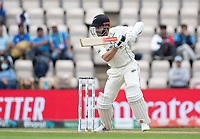 Kane Williamson, New Zealand pushes into the offside for two runs during India vs New Zealand, ICC World Test Championship Final Cricket at The Hampshire Bowl on 20th June 2021